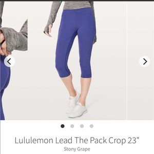 NWT Lululemon Lead The Pack Crop size 4